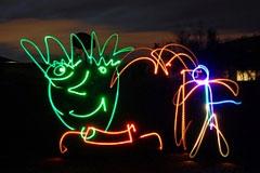流光溢彩的光电涂鸦摄影