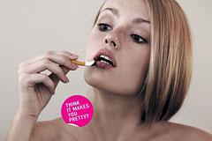 一则女性戒烟广告
