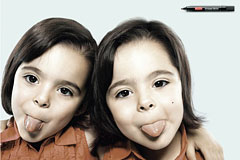 Twins记号笔创意广告