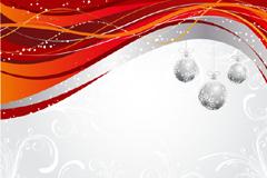 圣诞主题动感线条背景矢量素材