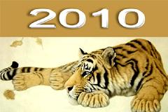 2010虎年精美台历模板矢量素材