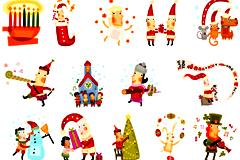 29款可爱卡通风格圣诞小插画矢量素材