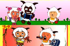 喜羊羊可爱卡通插画矢量素材