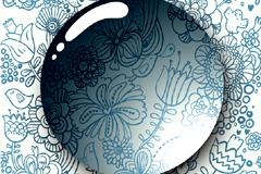 一款超酷水珠花纹背景矢量素材