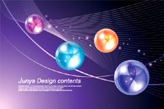 现代科技主题梦幻水晶球背景矢量素材
