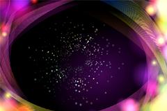 炫彩星系背景矢量素材