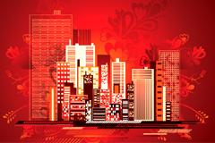 潮流都市建筑矢量素材