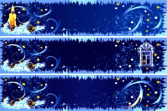 精美圣诞节装饰banner背景矢量素材