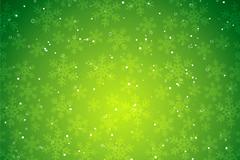圣诞主题绿色雪花背景矢量素材