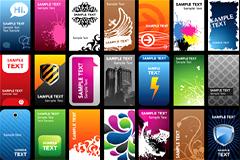 多款潮流精美卡片模板设计矢量素材