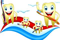 保护牙齿卡通插画矢量素材