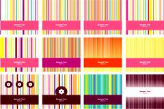 时尚缤纷线条卡片背景矢量素材