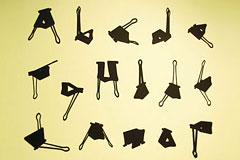 燕尾夹和26个英文字母设计