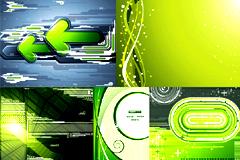 7款绿色潮流科技主题背景矢量素材