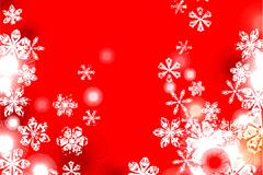 2款红色圣诞雪花背景矢量素材