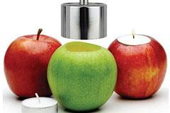 苹果蜡烛台