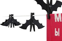 万圣节蝙蝠衣服夹子设计