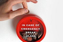 应急储钱罐: 紧急情况下请打碎玻璃