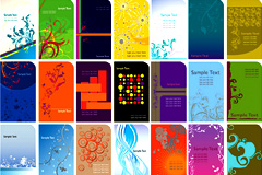 多款实用潮流卡片背景设计矢量素材