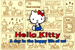 hello Kitty可爱卡通插画矢量素材