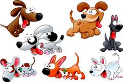 可爱卡通小狗矢量素材