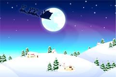 圣诞节雪景矢量素材