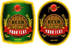 几款精美欧式啤酒瓶贴矢量素材