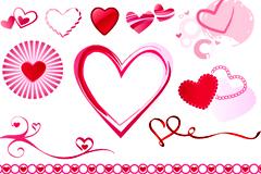 各种精美情人节心形元素矢量素材