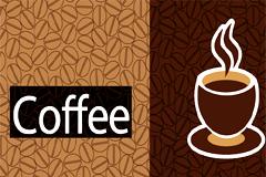 几款咖啡主题背景矢量素材
