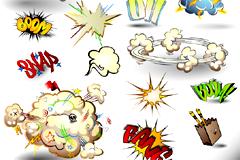 常用爆炸动漫元素矢量素材