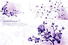 时尚典雅花卉背景矢量素材