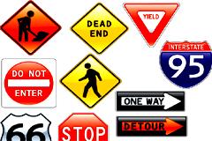 多款交通安全标志矢量素材
