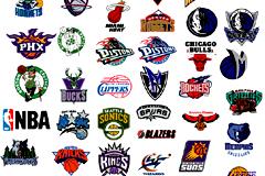 美国NBA篮球队徽标志矢量素材