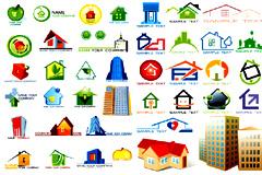 多款实用房地产logo设计矢量素材