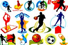 各种体育运动人物插画矢量素材