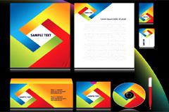 4套实用流行企业VI模板矢量素材