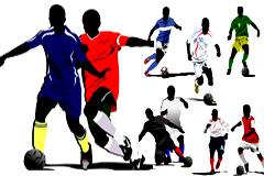 精彩足球运动瞬间矢量素材