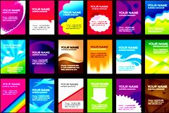 数款潮流卡片模板设计矢量素材