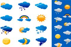 各种天气图标矢量素材