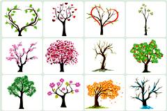 各种精美抽象树木矢量素材