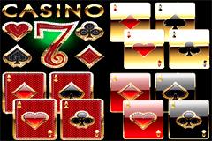 豪华金属质感扑克牌元素矢量素材