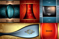 5款华丽欧式花纹背景设计矢量素材