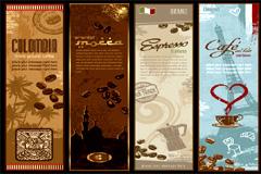 经典咖啡主题banner背景矢量素材