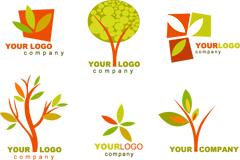 几款树木主题logo设计模板矢量素材