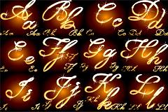 26个金属质感英文字母矢量素材