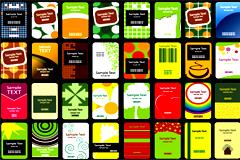 40款潮流前卫卡片模板设计矢量素材