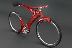 红色概念自行车