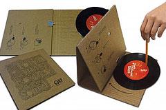 极简的纸板黑胶唱片机