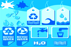 各种水主题图标矢量素材