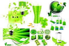 绿色环保主题相关元素矢量素材